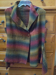 handwoven vest from class at Madrona