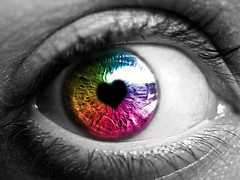your heart in my eyes       ♥ ♥ ♥ ♥ (ayman_ay17) Tags: white black color eye art love colors by photoshop golden design photo eyes graphics heart ayman designed