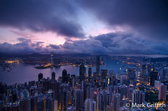 Hong Kong Dawn Patrol (Mark Griffith) Tags: china longexposure hongkong hiking hike thepeak hongkongisland victoriapeak dawnpatrol 20110618dsc6538