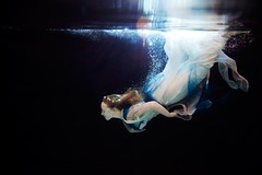 Camisha (Chris Carter Photos) Tags: water girl underwater floating flowingdress ladyinwater