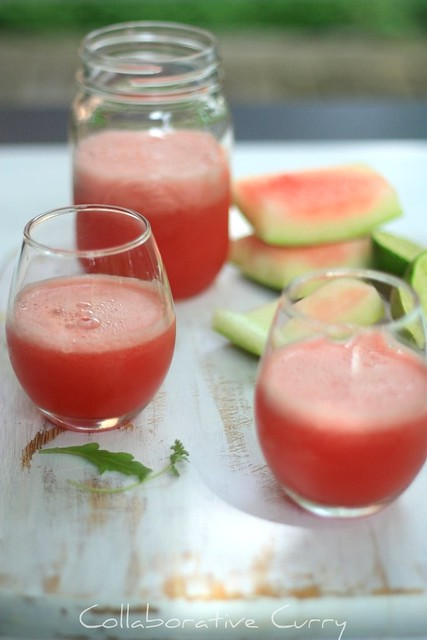 Watermelon agua fresca with ginger