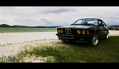 Front profile of the 635 Csi - Lac de Madine - Meuse (Thomas Morville (on holidays)) Tags: auto road street morning light summer people wh