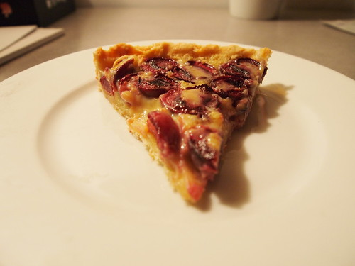 white chocolate cherry tart