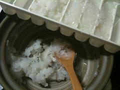 離乳食ストック作り。おかゆ。