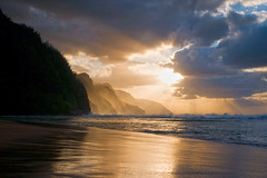 napali (*michael sweet*) Tags: sunset beach hawaii coast na kauai tropical pali kee naplai