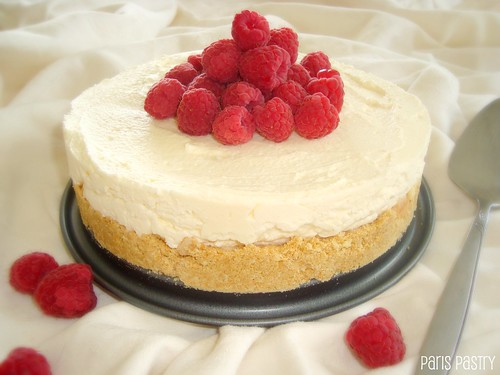 No-Bake Raspberry Cheesecake