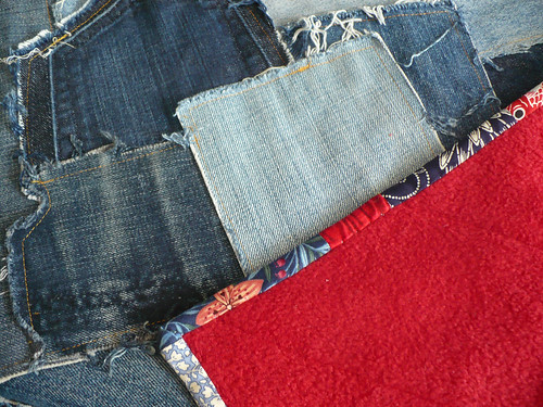Denim quilt detail