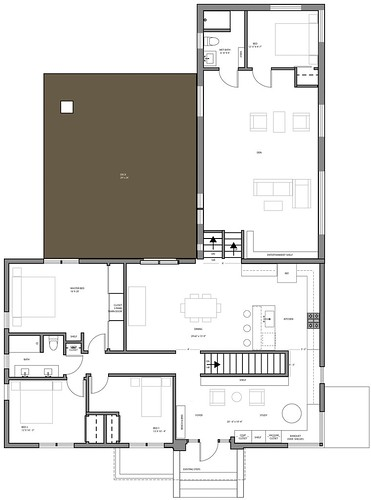 DeBord House Main Floor Plan