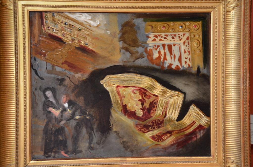 Etudes de reliures, de veste orientale et de figures d'après Goya - Delacroix