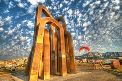 Golden Gates (marcovdz) Tags: people beach clouds marseille prado nuages plage hdr gens parapente paraglide 3xp borely les7portesdejerusalem