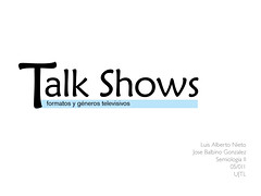Talk Shows (Zeruss) Tags: television exposicion talkshows formatos semiologia generos