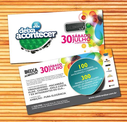 Flyer Deixa Acontecer 11 Anos by chambe.com.br