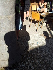 Shadows at the coffee shop (easegill) Tags: ocean blacksand nz raglan karst