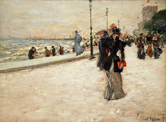 On the Lakefront Promenade, World Columbian Exposition (1893) by Childe Hassam (an American Impressionist) (ihynz7) Tags: chicago museum painting impressionism universityofchicago impressionist worldsfair childehassam worldcolumbianexposition smartmuseumofart onthelakefrontpromenade
