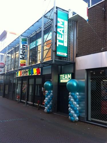 Ballonpilaar Breed Rond Team Kapsalon Schiedam