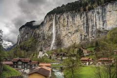 Lauterbrunnen (BarneyF) Tags: 3 landscape schweiz switzerland waterfall lauterbrunnen hdr bernese exp oberland