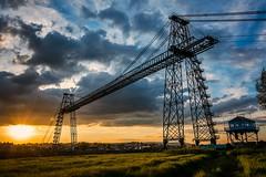 Newport Transporter Bridge (technodean2000) Tags: uk bridge sunset wales nikon south newport transporter lightroom d5200