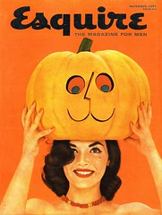 Esquire, November 1955 (Tom Simpson) Tags: esquire halloween 1955 1950s jackolantern vintage pinup woman smile