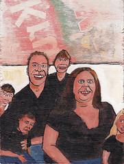 # 1656 Bring in the kids (h e r m a n) Tags: family art kids painting children kunst familie kinderen schilderij herman gezin plankje