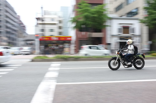 A Motorcycle Panning Shot -X100