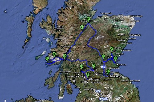 Map of our travels