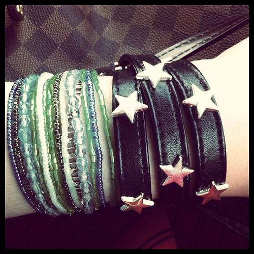 I've ways worn too many bracelets. I'm glad now it's