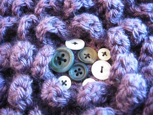 Center of the Japanese Camellia Crochet Pillow