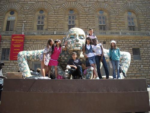 Sandra au voyage d'Italie