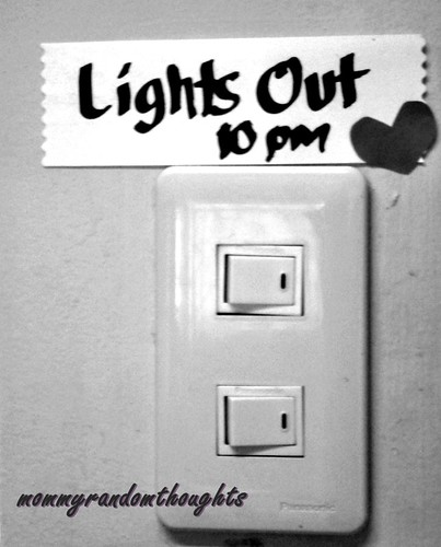 Lights Out @ 10pm by mommy random thoughts