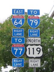 Interstate shields (Charleston, WV) (Andrew T...has left the building) Tags: charleston wv westvirginia roadsign 2011