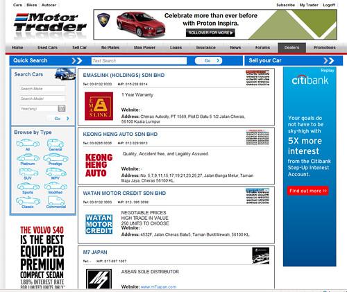 New Motor Trader Dealer Page