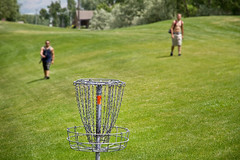 "Playing frisbee or disc golf (IronRodArt - Royce Bair (""Star Shooter"")) Tags: game grass sport golf fun team play basket lawn course target frisbee recreation players discgolf frisbeegolf pdga flyingdisc"