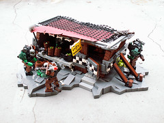 Under the Waagh!! (Jerac) Tags: bar lego ork wh40k