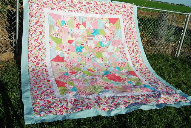 Niece's big girl bed quilt