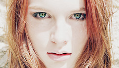 Meggy (EricaCoburn) Tags: red woman white black girl beautiful beauty lady female angel hair model pretty bright gorgeous megan pale stunning poles