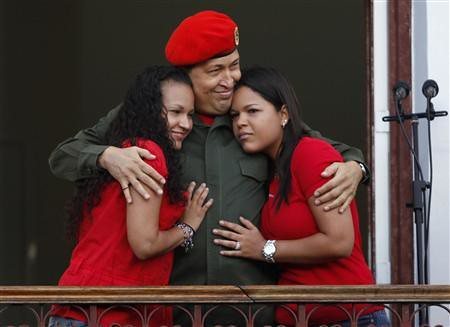 Daughters of President Hugo Chavez during his return rally celebration in Caracas on July 5, 2011. by Pan-African News Wire File Photos
