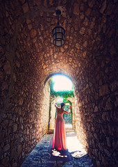 The Entrance (_Paula AnDDrade) Tags: travel pink light selfportrait france luz fairytale lumix europa europe dress autoretrato naturallight vestido gf1 luznatural paulaanddrade panasonicgf1 julianofonseca