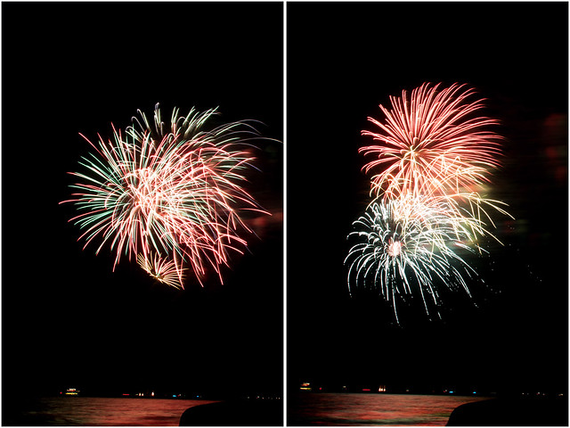 July 4th fireworks diptych 5