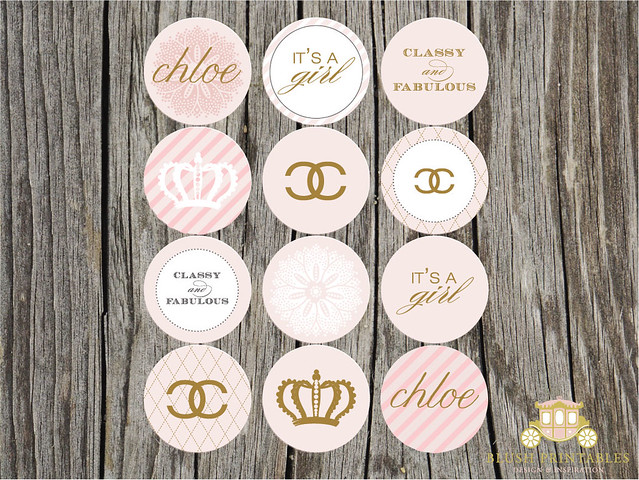Chanel Themed Party Circles