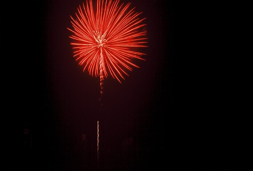 Fireworks at Empire State Plaza, Albany NY in Fuji Velvia