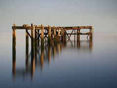 NEW DAY,OLD JETTY. (kenny barker) Tags: sea mist landscape lumix coast scotland bravo day cloudy fife jetty coastuk landscapeuk panasonicg1 fleursetpaysages hawkscraigjettyaberdour kennybarker