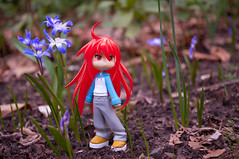 365 Toy Project, 76/365: Shana, Early Spring (WhyDolls) Tags: flowers garden toy spring doll figure pinkyst pinkystreet shakugannoshana 365toyproject