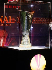 UEFA Europa League Trophy (Ramona R***) Tags: cup football team spain europa spanish final espanol trophy futbol bucharest copa uefa league 2012 equipo atleticomadrid thegalaxy athleticbilbao equipodefutbol coupeuefa europaleague uefaeuropaleague mygearandme uefaeuropaleaguetrophy rememberthatmomentlevel1 rememberthatmomentlevel2