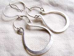 Goddess Sterling Silver Earrings (julylamoon) Tags: sterlingsilver handforged hoopstyleearrings