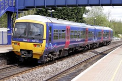Canalside Pickup (JohnGreyTurner) Tags: uk train br transport first rail railway turbo oxfordshire 165 dmu fgw class165 heyford