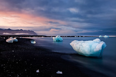 Ice on the Rocks (John & Tina Reid) Tags: travel red summer ice photography iceland jon europe natural patterns dramatic floating lagoon glacier vision reid tina attractions nomadic jonreid jokkelsarlen