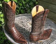 Sendra-Mexico Caiman boots (MarkXYVL) Tags: brown leather mexico cowboy hand boots made exotic western choco caiman croco stiefel laarzen sendra