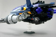 "Neophyter F-3 ""Iceburn"" (Brian Rinker) Tags: blue game ice star gun fighter ship lego space telephone gear burn moc gatling atin neophyter"