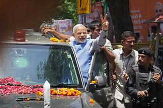 莫迪赢得选举,承诺建设强大印度