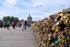 Pont des Arts, Paris. Seen in Explore* May 17.2014 (Dan in Mars) Tags: wood city bridge paris
